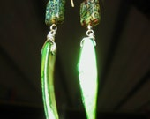 SALE...Full moon over the jungle...earings