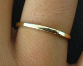 Solid Gold Ring 14k Polished Square Stackable Band Ring Sz 4-15