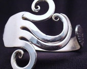 Upcycled Silverware Fork Bracelet Eco Friendly Antique Spoon Jewelry