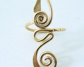 12k Gold Filled Long Toe Ring