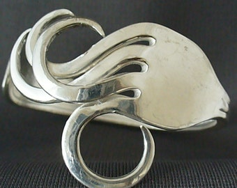 Upcycled Eco Friendly Antique Silverware Jewelry Fork Bracelet