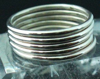 Sterling Silver Polished Stacking Ring Set