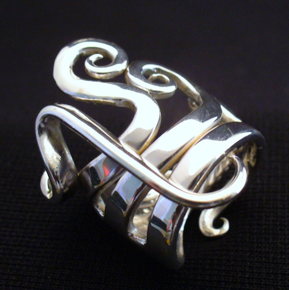 Solid Sterling Silver Real Fork Ring Size 5 to 16