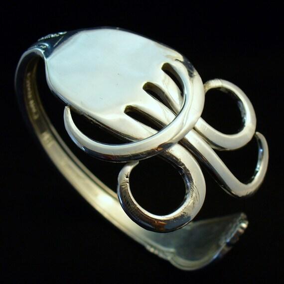 Silverware Eco Friendly Upcycled Antique Jewelry Fork Bracelet