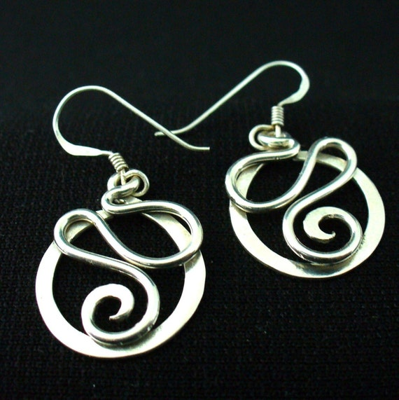 Handmade Sterling Silver Twisted Wire Earrings