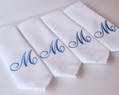 Dinner Napkin , 21x21 Elegant Monogrammed Personalized Custom Napkin Perfect for Weddings, Optional Personalization Available