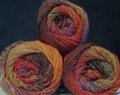 3 x 50g balls Noro Kureyon Wool Knitting Yarn 263