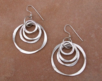 Four hoops earrings