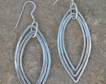 Hammered Teardrops Earrings