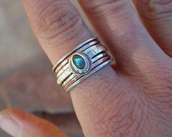Labradorite Stack Ring