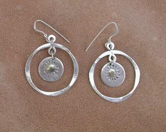 Sun In Circle Earrings