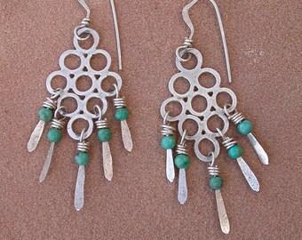 Lacy Turquoise Dangle Earrings