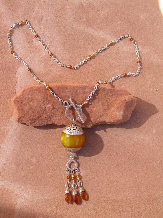 Amber Nepal Necklace