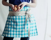 gingham gathering apron