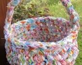 Crochet Basket with Handle Easter Basket, Gift Basket, Made to Order
