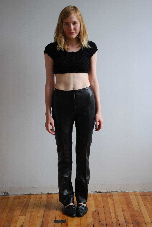 SALE Moto Babe Skinny Leather Pants XS by tarantulasisters on Etsy