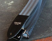 Industrial Silver Recycled Seat Belt Guitar Strap - Vegan Eco Friendly Guitar Strap