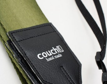 Army Green Recycled Seatbelt Camera Strap - Vegan Eco Friendly - Tons of colors to choose from
