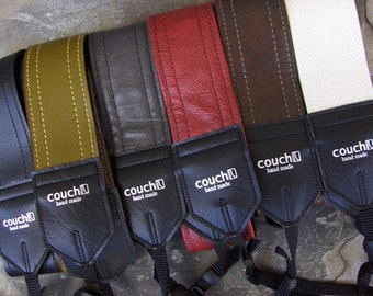 Classic Luggage Style Camera straps - Upcycled from guitar straps - eco vegan friendly