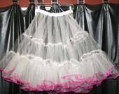 "Custom Petticoat - Long for Swing style or short ""tutu"" style, Alice Lon pattern"