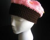 Crochet Cupcake Hat with Bead Sprinkles