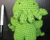 Baby Cthulu Crocheted Plush Amigurumi Toy
