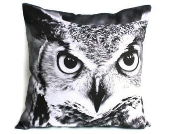 "OWL animal pillow cushion/throw pillow/ 16x16 inch pillow/ cushion cover/ 16""x16 , 41cms"