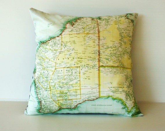 State map WESTERN AUSTRALIA / organic cotton/ second anniversary cotton/