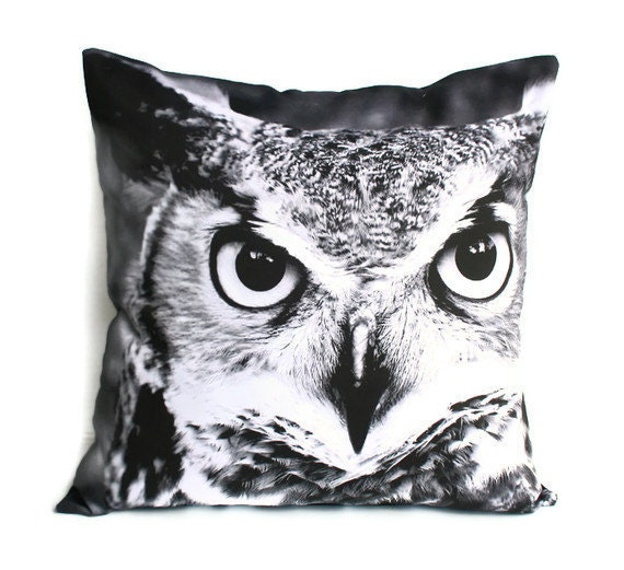 "OWL animal pillow cushion/throw pillow/ 16x16 inch pillow/ cushion cover/ 16""x16 , 41cms"