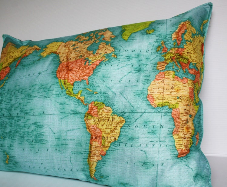 FLOOR CUSHION WORLD map cushion gant organic by mybeardedpigeon