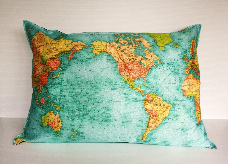 FLOOR CUSHION WORLD map cushion gant organic cotton cushion
