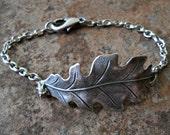 Greenpeace Silver Oak Leaf Bracelet