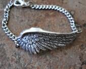 Fallen Angel Silver Wing Bracelet