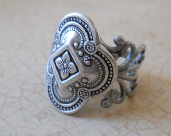 Celtic Inspired Antiqued Silver Unisex Ring EXCLUSIVE DESIGN