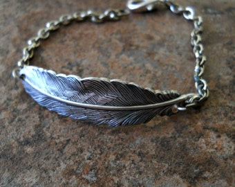Enchanted Fallen Angel Bracelet, Silver Wing Bracelet