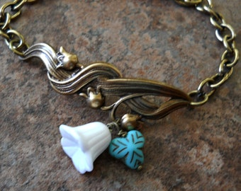 Lily of the Valley Enchanted Bracelet in Brass