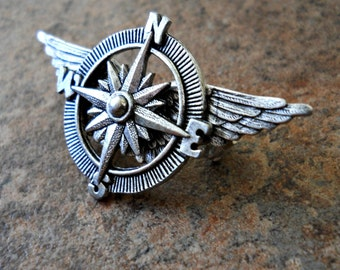 The ORIGINAL Victoriana Steampunk Airship Captain Lapel Pin Exclusive Design by Enchanted Lockets Only, Unisex Styling