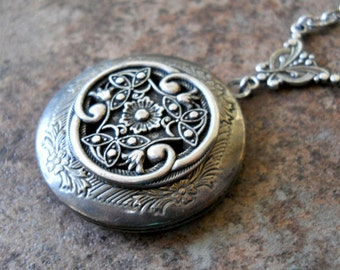 Victorian Celtic Love Locket Exclusively by Enchanted Lockets