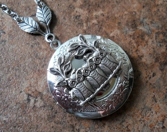 Baby Owls Woodland Locket EXCLUSIVE DESIGN Only by Enchanted Lockets