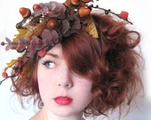 Handsewn Fascinator - Autumn Bird Nest