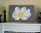 Gray and Yellow Contemporary Painting - Art, Wall Decor, Home Furnishing, White, Yellow, Gray, Original Acrylic, Canvas