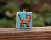 Scrabble Tile Pendant - Cool Cat for Kidz