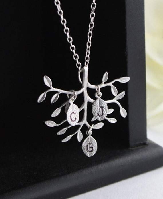 """Personalized jewelry - """" Family Tree """" - Sterling silver necklace, Valentine's day gift, Mother, Anniversary Gift"""