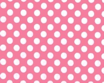 Candy Ta Dot / Pink & White Polka Dots - Michael Miller Fabrics