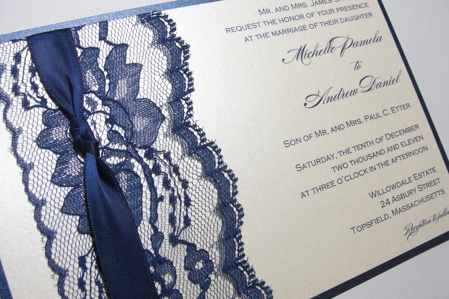 Lace Wedding Invitation: SAMPLE Lace Wrapped Wedding Reception Invitations Wedding