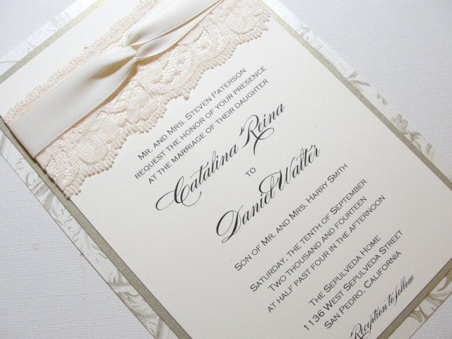Ribbon For Wedding Invitations with good invitation example