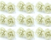 Miniature Polymer Clay Flowers Supplies Roses 12 pcs