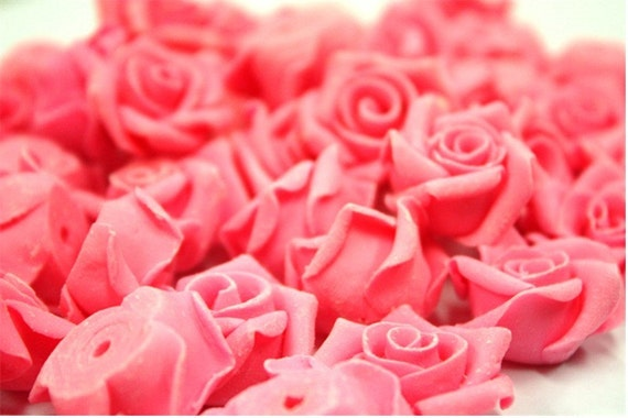 Miniature Roses Mini Flowers Polymer Clay Supplies 50 pcs