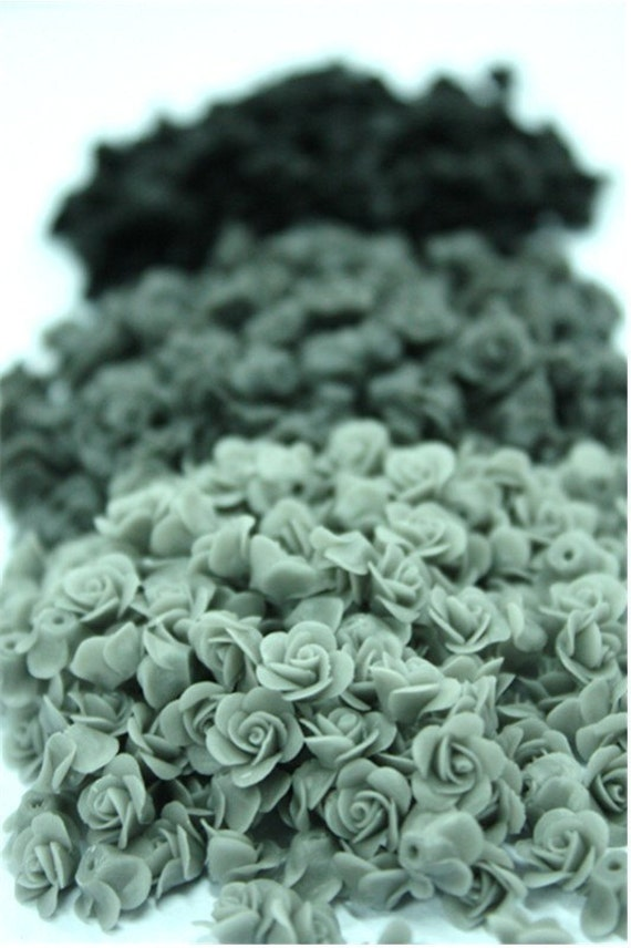 Miniature Roses Polymer Clay Supplies for Beaded Jewelry 24 pcs