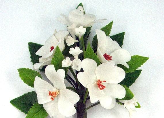 Handmade Polymer Clay Supplies Flowering Dogwood for Bouquet and Handmade Gifts